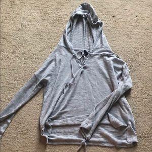 Tops - Free press knit hoodie